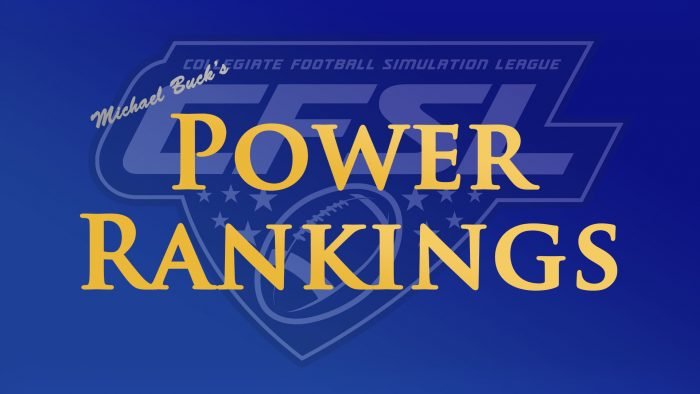 Michael Buck's Power Rankings
